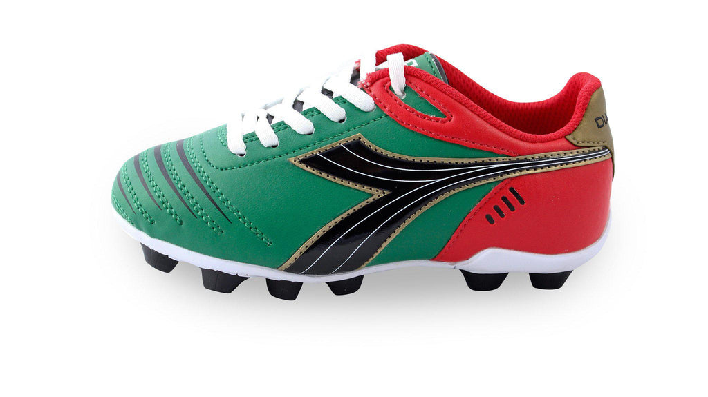Diadora Cattura MD Jr. Soccer Cleats (Green/Red)