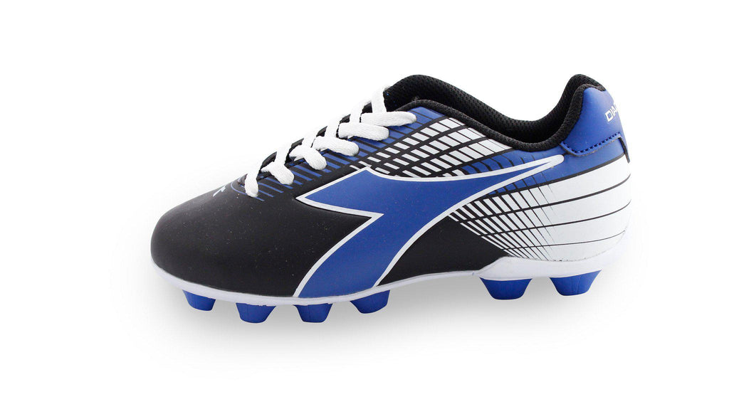Diadora Ladro MD Jr. Soccer Cleats (black/blue/white)-Footwear-Soccer Source