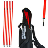 "1"" Agility Pole Set with Ground Spikes by Soccer Innovations-Training Equipment-Soccer Source"