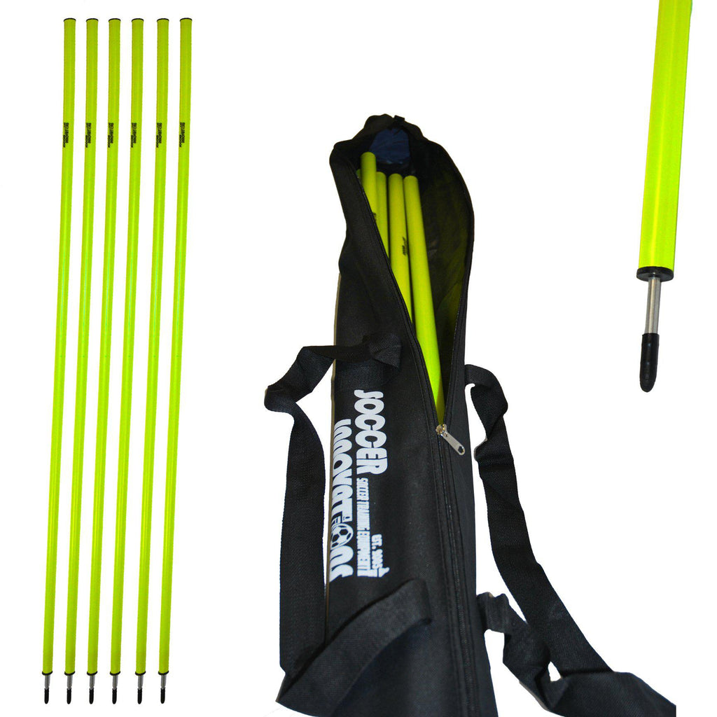 "1"" Agility Pole Set with Ground Spikes by Soccer Innovations"
