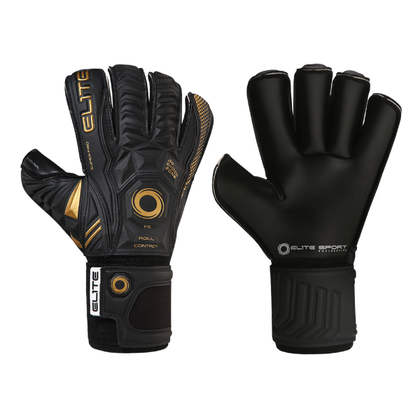 Elite Sport Black Real 20 Goalkeeper Gloves-Soccer Command
