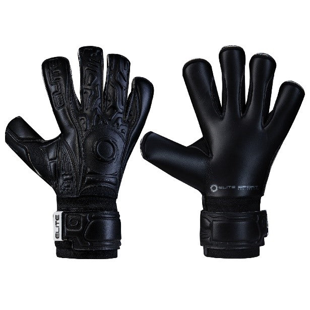 Elite Sport Black Solo 18 Goalkeeper Gloves-GK-Soccer Source