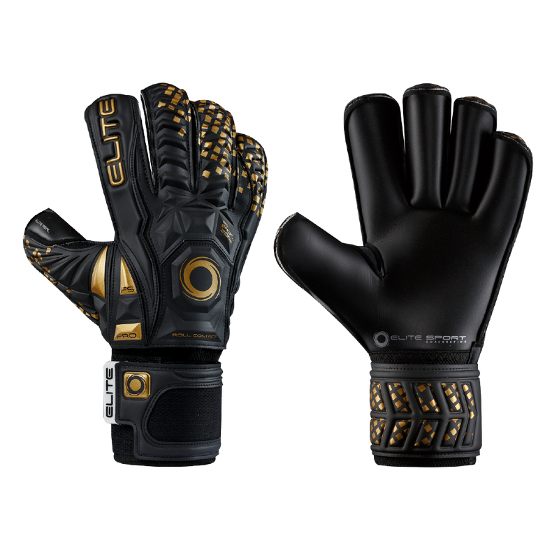 Elite Sport Black Real Goalkeeper Gloves-GK-Soccer Source