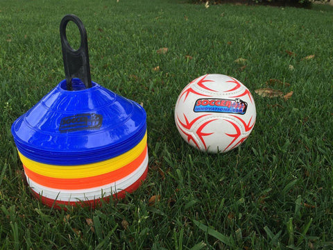 "8"" Multi-Color Disc Cone Set by Soccer Innovations - Soccer Source - Your Source for Quality Soccer Equipment"