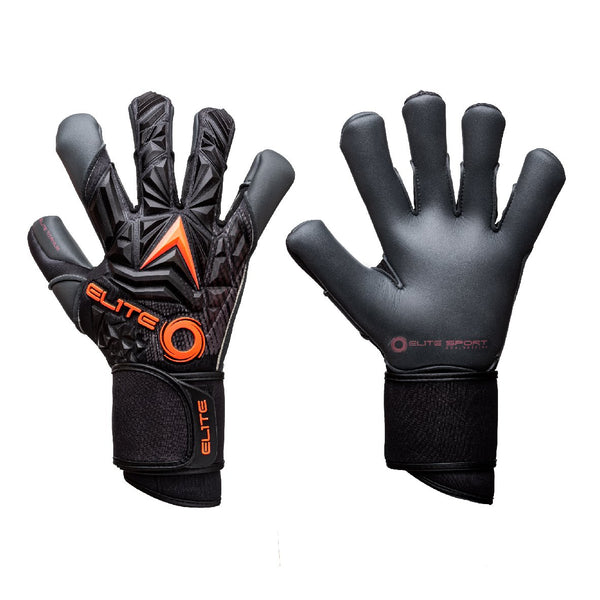 Elite Sport Titanium Orange Goalkeeper Gloves-Soccer Command