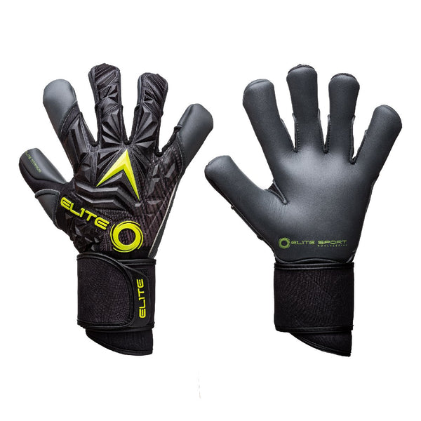 Elite Sport Titanium Yellow Goalkeeper Gloves-Soccer Command
