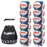 hummel Premier Soccer Ball 12-Pack with Authentic Charge Ball Bag and Mini Pump-Equipment-Soccer Source