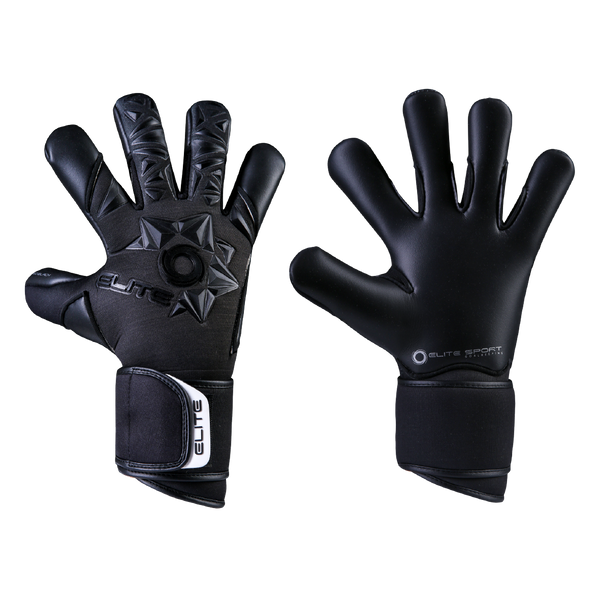 Elite Sport Neo Black Goalkeeper Gloves-Soccer Command