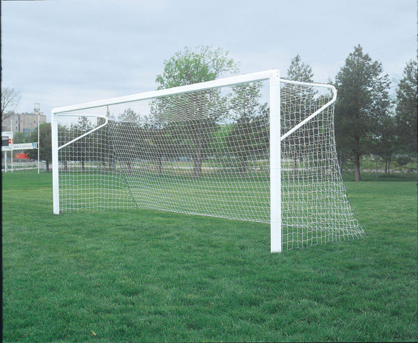 Bison Football Goal Post Compatible 4mm Square Mesh Soccer Goal Nets (pair)-Equipment-Soccer Source