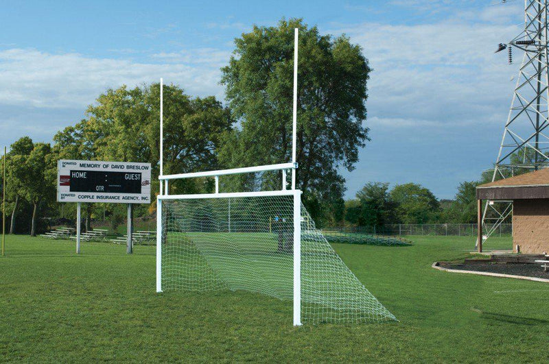 8' x 24' Bison Permanent/Semi-Permanent Soccer/Football Combo Goals (pair)-Soccer Command