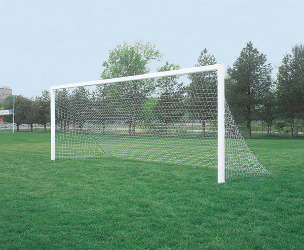 "7' x 21' Bison ShootOut 4"" Square Permanent/Semi-Permanent Soccer Goals (pair)-Equipment-Soccer Source"