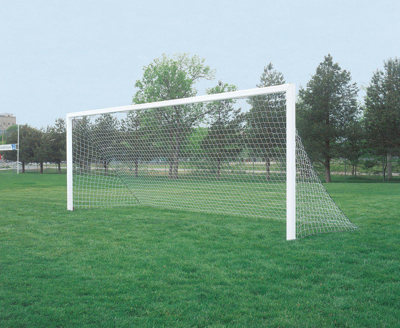 "7' x 21' Bison ShootOut 4"" Square Permanent/Semi-Permanent Soccer Goals (pair)-Soccer Command"