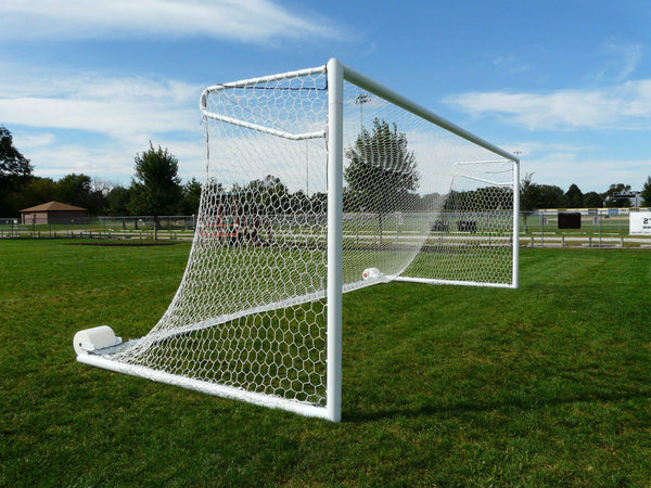 6.5' x 18.5' Bison Euro No-Tip Soccer Goals (pair)-Equipment-Soccer Source