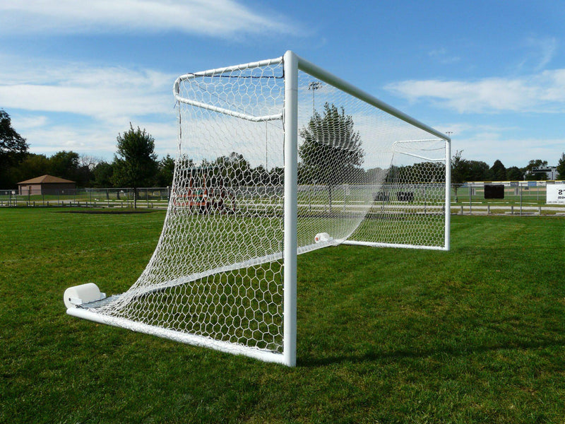 6.5' x 18.5' Bison Euro No-Tip Soccer Goals (pair)-Soccer Command