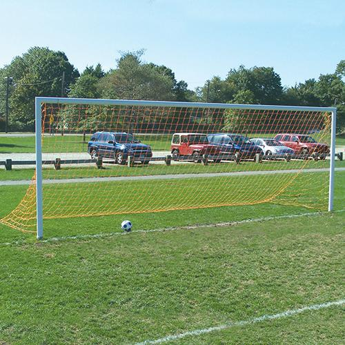 Jaypro 8' x 24' Semi-Permanent Team Official Round Goals (pair)-Equipment-Soccer Source