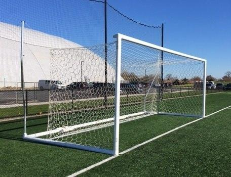 8' x 24' Pevo Stadium Series Soccer Goals with Stanchions (pair)-Soccer Command