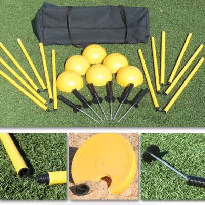 Soccer Agility Pole System-Equipment-Soccer Source