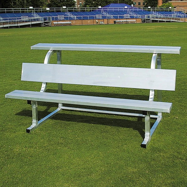 Pevo Powder Coated Team Soccer Bench With Back & Shelf-Equipment-Soccer Source