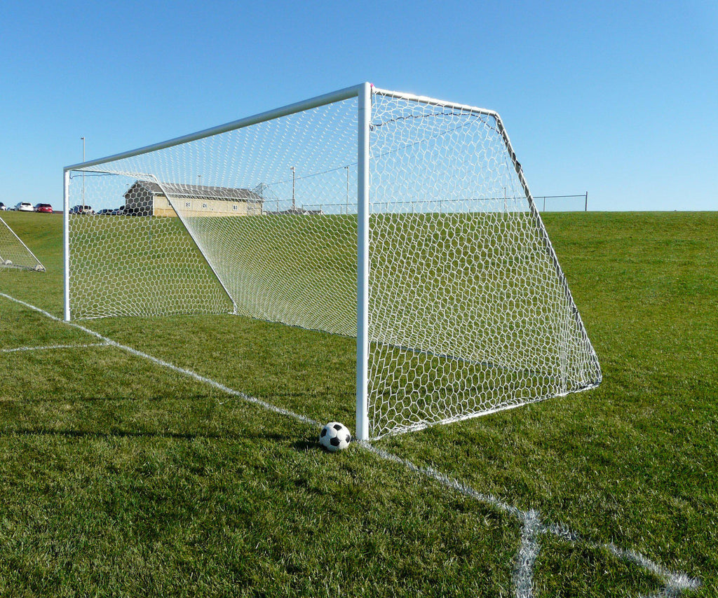 "8' x 24' Bison Tourney 3"" Round Soccer Goals (pair)"