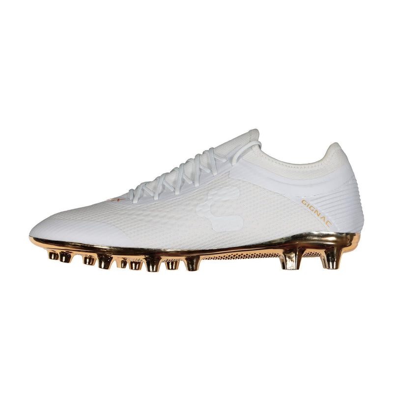 Charly PFX Gignac FG Soccer Cleats - White/Gold-Soccer Command