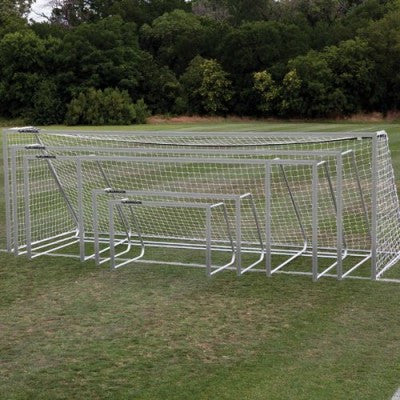 "6.5' x 18.5' Alumagoal Aluminum 3"" Round Club Soccer Goals (pair) - Soccer Source - Your Source for Quality Soccer Equipment"