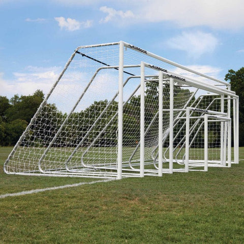 "8' x 24' Alumagoal Powder-Coated White 3"" Round Club Soccer Goals (pair) - Soccer Source - Your Source for Quality Soccer Equipment"