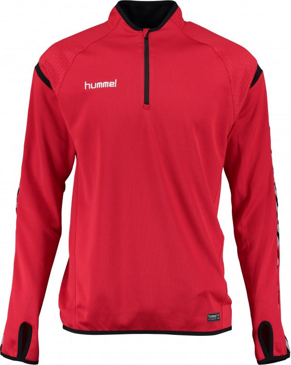 hummel Authentic Charge 1/4 Zip Soccer Training Sweat Top-Soccer Command
