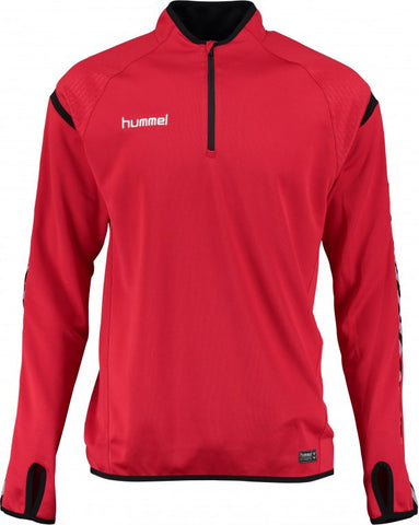 hummel Authentic Charge 1/4 Zip Soccer Training Sweat Top