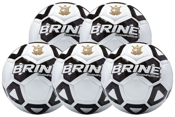 Brine Championship 2.0 Soccer Ball Bundle (5-pack)-Equipment-Soccer Source