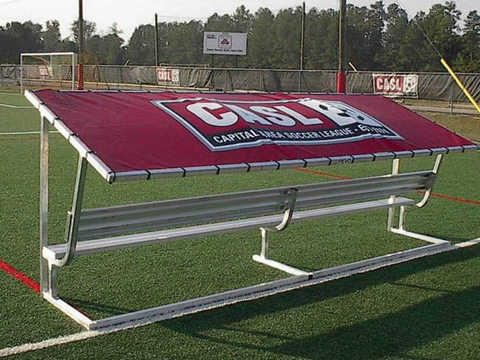 Pevo Team Soccer Bench Shelter Replacement Cover-Seating-Soccer Source