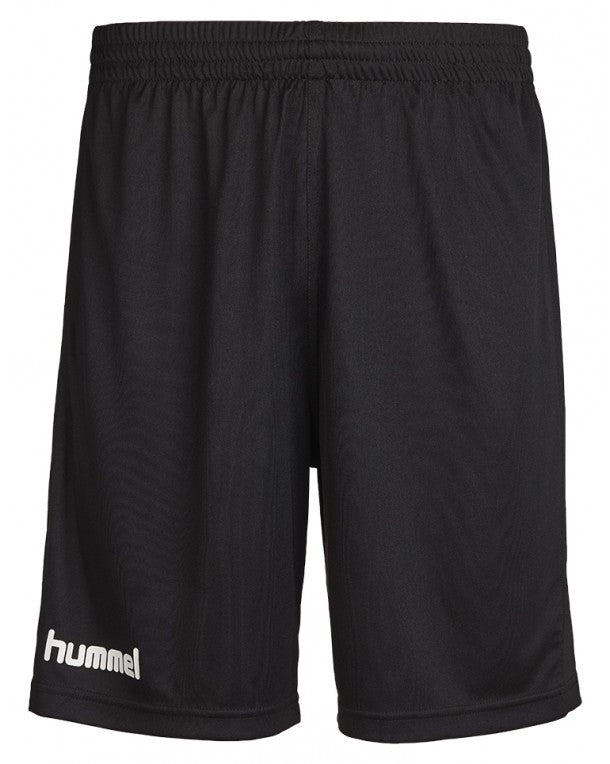hummel Core Poly Black Soccer Shorts (6-pack)-Soccer Command