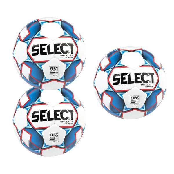 Select Brilliant Super FIFA v18 Soccer Ball Bundle (3-pack)-Soccer Command