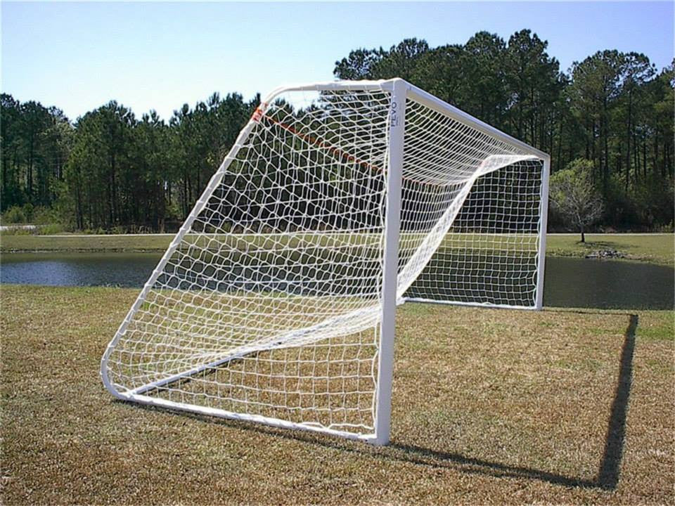 7' x 21' Pevo CastLite Competition Series Soccer Goal (pair)