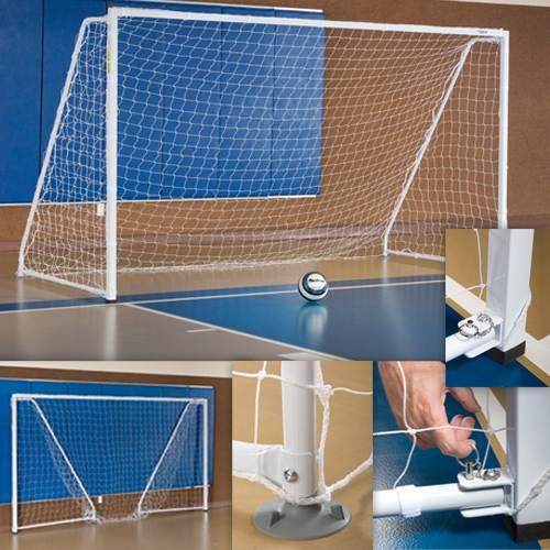 6.5' x 12' Portable/Foldable Indoor Soccer Goal-Soccer Command
