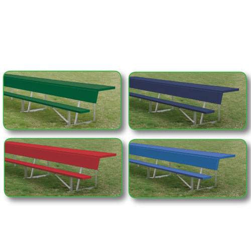 Powder Coated Team Bench With Shelf-Equipment-Soccer Source