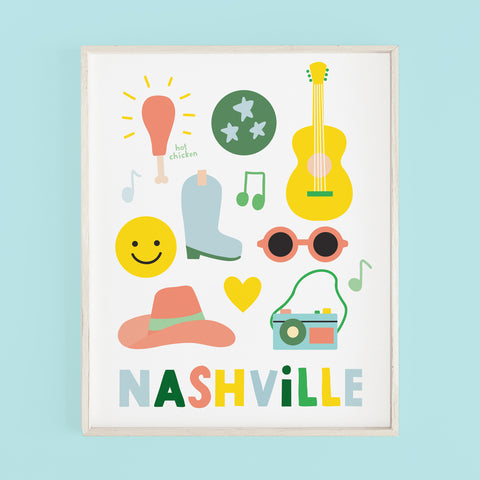 Nashville Music City (blue color)