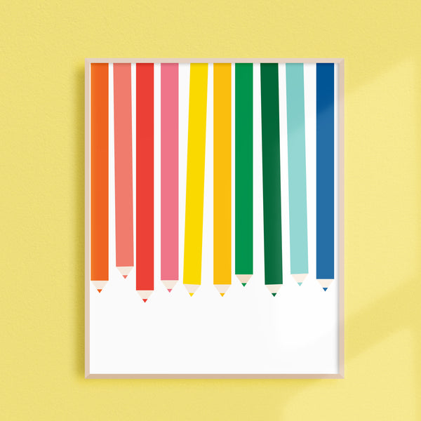 Pencils Art Print + Binder Cover (Digital)