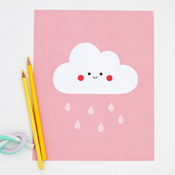 Happy Cloud (Pink)