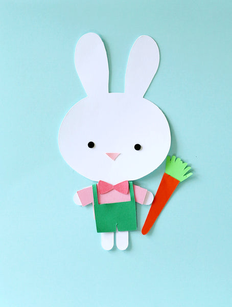 Bunny Paper Doll (SVG File Download)