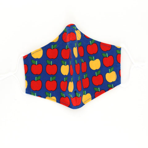 Ann Kelle Apples Mask (Navy Background)