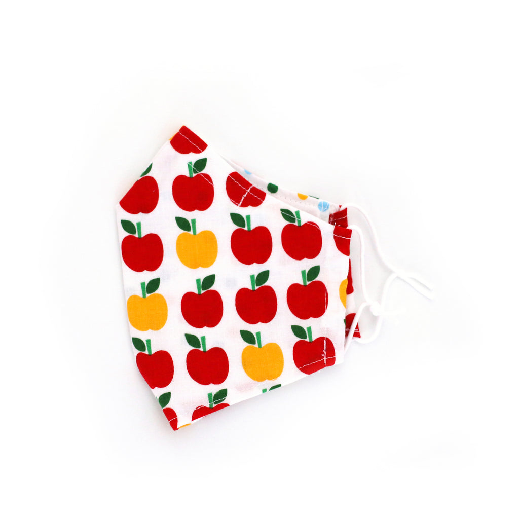 Ann Kelle Apples Mask (White Background)