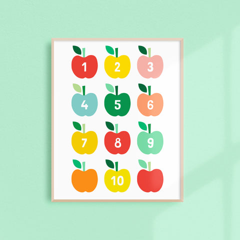 Apple Numbers (Printable)