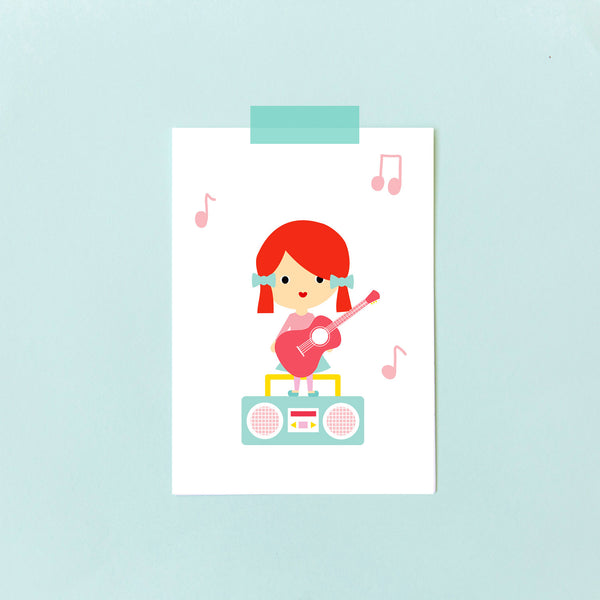 """Ginger Music Girl"" Collector Card"