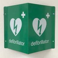 Tent Style AED Location Sign - Suitable for Outside