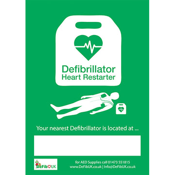Adhesive Wall AED Location Sign
