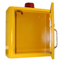 Indoor Yellow White Defibrillator Cabinet Unlocked