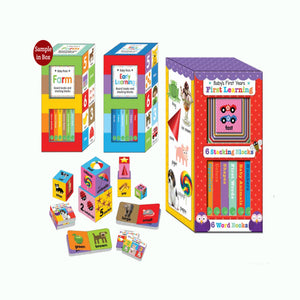 Baby Firsts Early Learning Board Books and Stacking Blocks