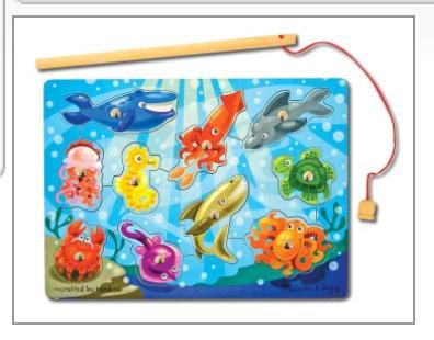 Magnetic Fishing Game: 10 Pieces