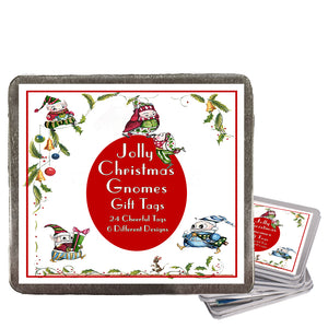 Jolly Christmas Gnomes Gift Tags