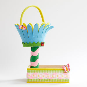 Butterfly Flower Bucket Tiered Box
